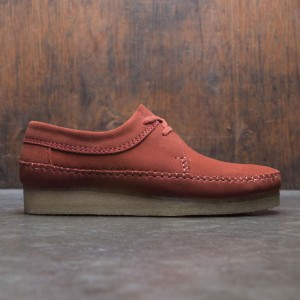 Clarks Men Weaver Suede (red / brick red)