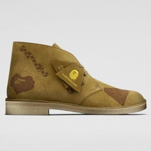 Clarks x A Bathing Ape Men Desert Boot (brown / oak embossed)