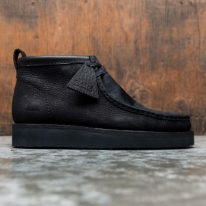 Clarks Men Wallabee Hike (black / black combi)
