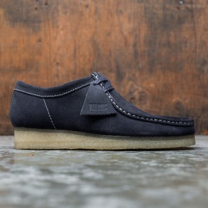 Clarks Men Wallabee Ink Suede (black / ink)