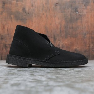 Clarks Men Desert Boot Black Suede (black / suede)