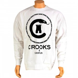 Crooks and Castles Snake Sweater (white)