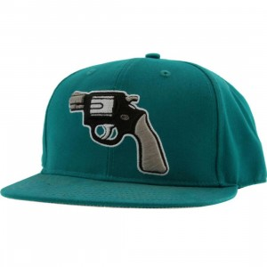 Crooks and Castles Gun New Era Fitted Cap (teal)