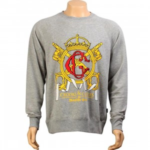 Crooks and Castles Crown Keys Sweater (heather grey)