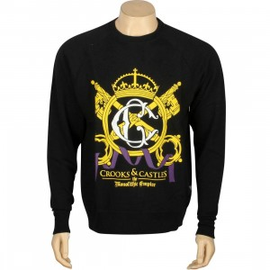 Crooks And Castles Crowned Crewneck (black)