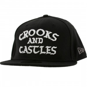 Crooks and Castles Logo New Era Fitted Cap (black)