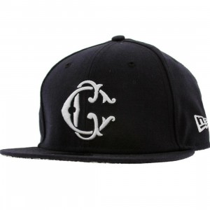 Crooks and Castles Interlocked C New Era Fitted Cap (navy)