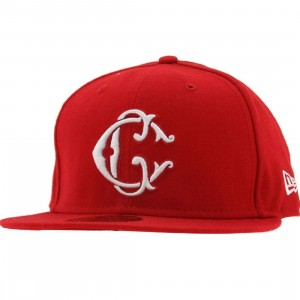 Crooks and Castles Interlocked C New Era Fitted Cap (scarlet)