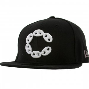 Crooks and Castles Big C Link New Era Fitted Cap (black)