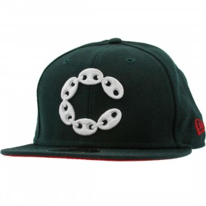 Crooks and Castles Big C Link New Era Fitted Cap (hunter)