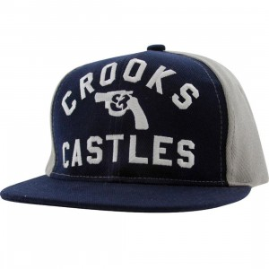 Crooks and Castles Gun Snapback Cap (midnight navy)
