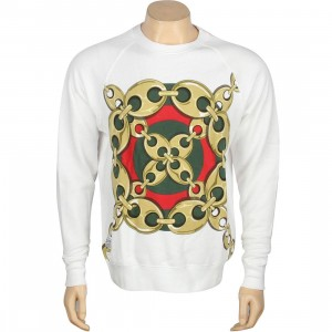 Crooks And Castles Linked Crewneck (white)