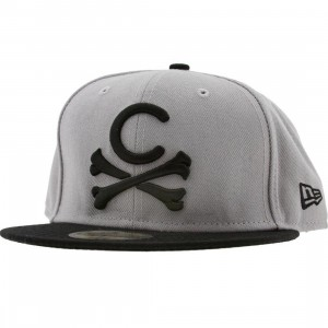 Crooks and Castles Crossbones New Era Fitted Cap (black / grey)