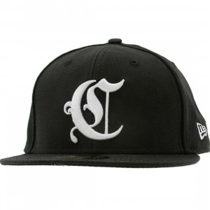 Crooks and Castles Emblem New Era Fitted Cap (black)