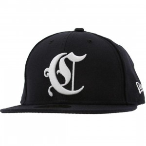 Crooks and Castles Emblem New Era Fitted Cap (navy)