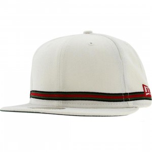 Crooks and Castles Strapped New Era Fitted Cap (white)