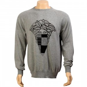 Crooks and Castles Bandito Sweater (heather grey)