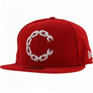 Crooks and Castles C Link Logo New Era Fitted Cap (red)