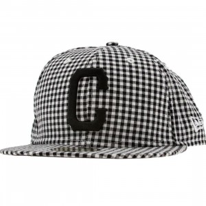 Crooks and Castles Plaid New Era Fitted Cap (black / white)