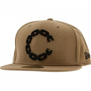 Crooks and Castles C Link Logo New Era Fitted Cap (khaki)