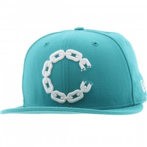 Crooks and Castles C Link Logo New Era Fitted Cap (teal)