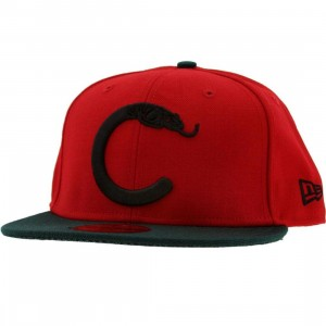 Crooks and Castles C Snake Logo New Era Fitted Cap (scarlet / black)
