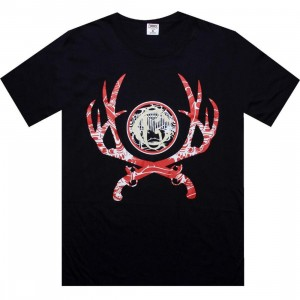Crooks and Castles Crossing Guns Tee (dark navy)