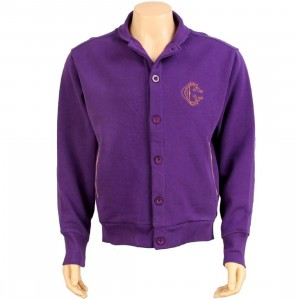 Crooks and Castles Cardi Bomber Jacket (eggplant)
