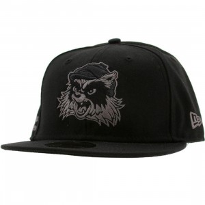 Crooks and Castles Racoon New Era Fitted Cap (black)