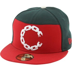 Crooks And Castles C Link Logo New Era Fitted Cap (green / red)