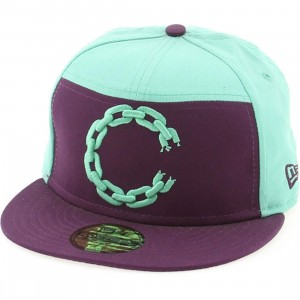 Crooks And Castles C Link Logo New Era Fitted Cap (teal / purple)