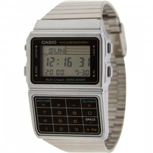 Casio Databank Multi Lingual Calculator Watch (silver)
