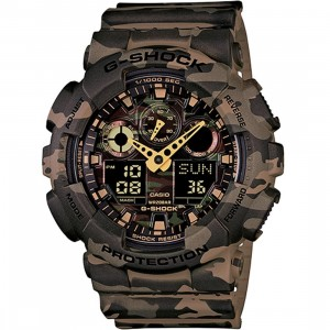 G-Shock Watches GA100 Camouflage Watch (brown / camo)