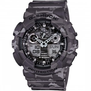 G-Shock Watches GA100 Camouflage Watch (grey / camo)
