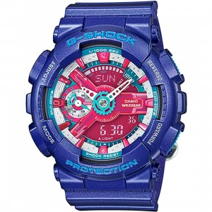 Casio G-Shock GMAS110 Watch (blue / red)