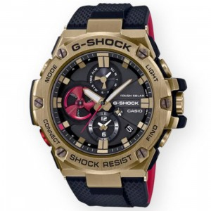 G-Shock Watches x Rui Hachimura GSTB100RH-1A Watch (gold / red)