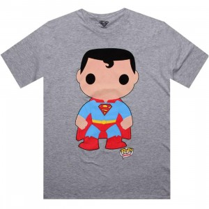 DC Comics Superman Funko Tee (heather grey)