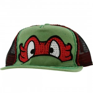 TMNT Youth Raphael Big Face Snapback Cap (green / red)
