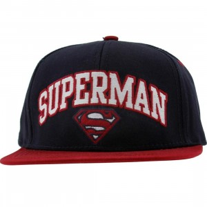 DC Comics Superman Embroidery Logo Snapback Cap (navy / red)