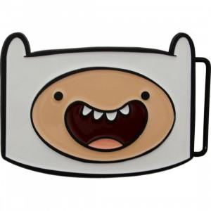 Adventure Time Finn Belt Buckle (white)