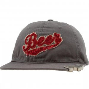 Generic Beer Bottle Opener Snapback Cap (grey)