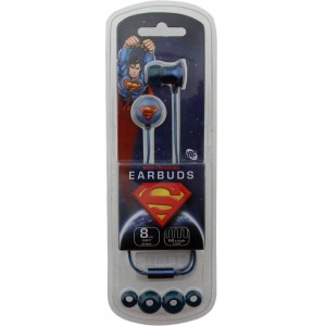 DC Comics Superman Metal Earbuds (blue)
