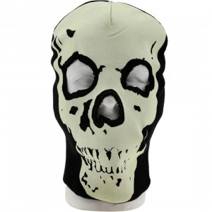 Generic Glow In The Dark Skull Ski Mask Beanie (black)