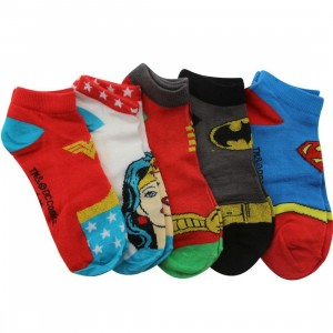 DC Comics Youth Superheroes Low Pedi Socks 5 Pack (multi) 1S