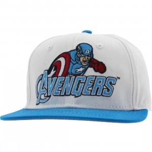 Marvel The Avengers Captain America Snapback Cap (white / blue)