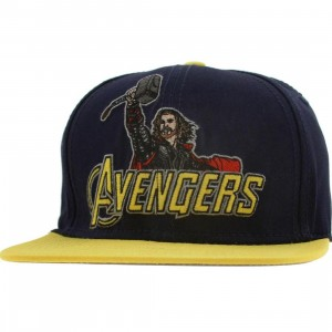 Marvel The Avengers Thor Snapback Cap (navy / yellow)