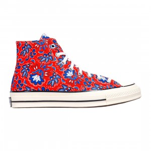 Converse Men Culture Prints Chuck 70 Hi (red / habanero red / egret / rush blue)