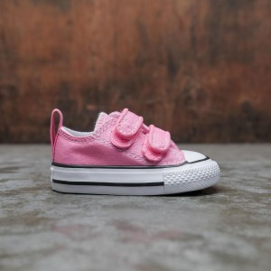 Converse Little Kids Chuck Taylor All Star Hook And Loop Ox (pink)