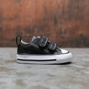 Converse Little Kids Chuck Taylor All Star Hook And Loop Ox (black)