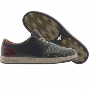 Creative Recreation Cesario Low Premium (military / forest / oxblood)